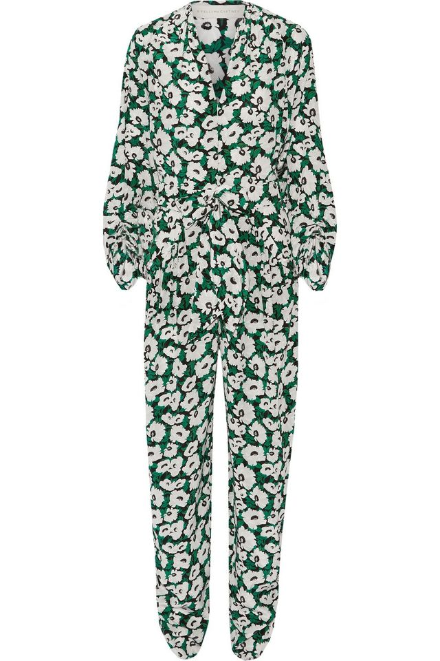 Stella McCartney Monia Floral Print Silk Crepe Jumpsuit