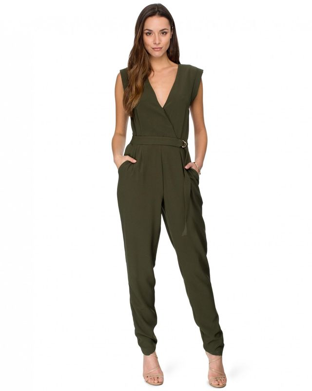 Kardashian Kollection Wrap Front Jumpsuit