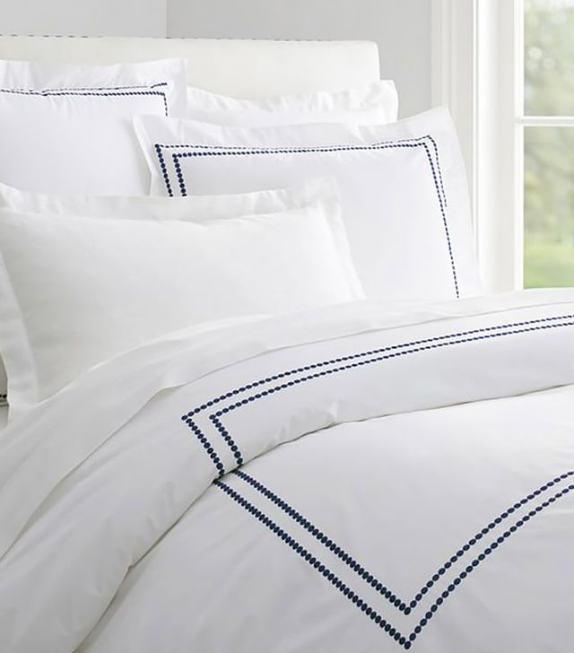 Pottery Barn Pearl Embroidered 280-Thread Count Duvet Cover and Shams