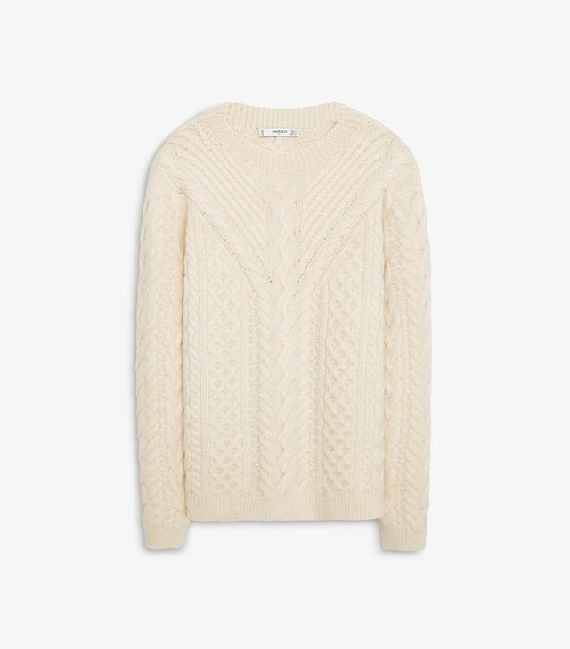 Mango Mixed Knit Sweater
