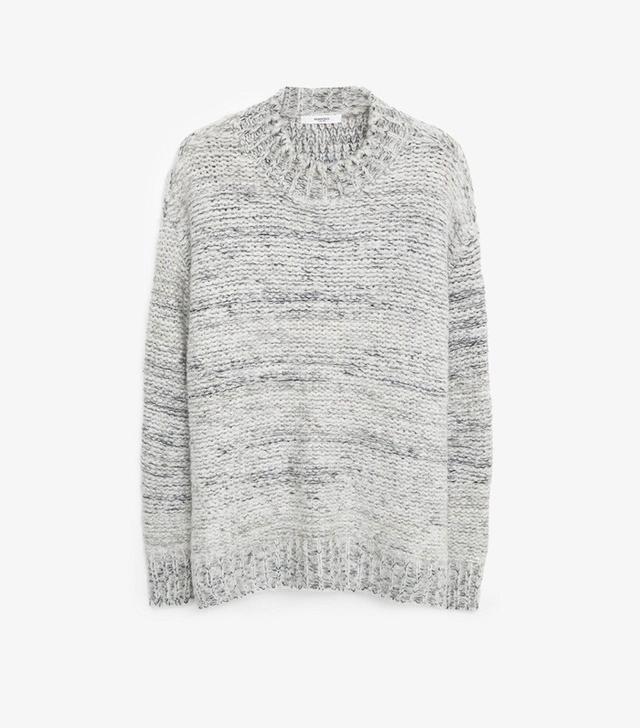 Mango Flecked Wool Sweater