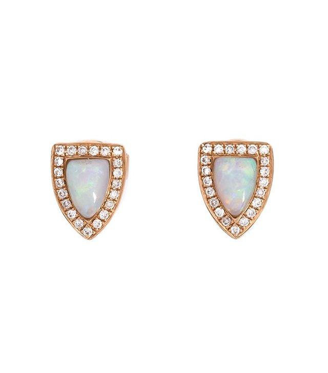 Anita Ko 18K Opal and Diamond Studs