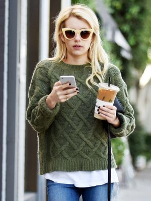 Emma Roberts's Cozy Sweater Is Perfect for Fall