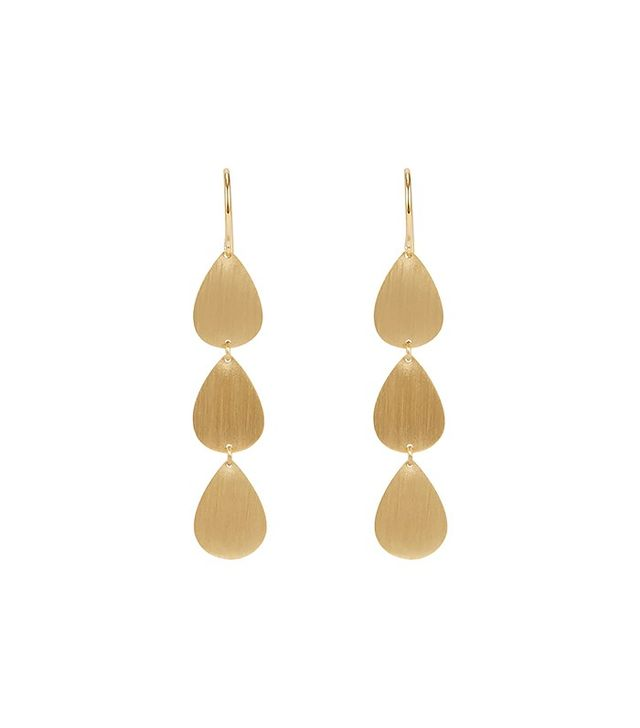 Irene Neuwirth Flat Triple-Drop Earrings