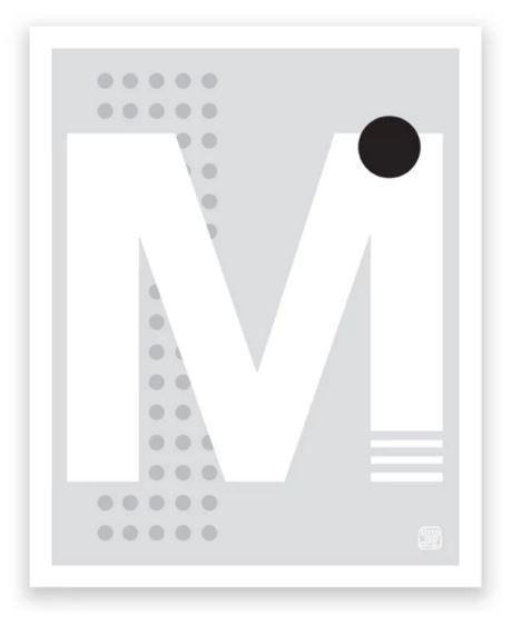 Printspace Letter Art Print