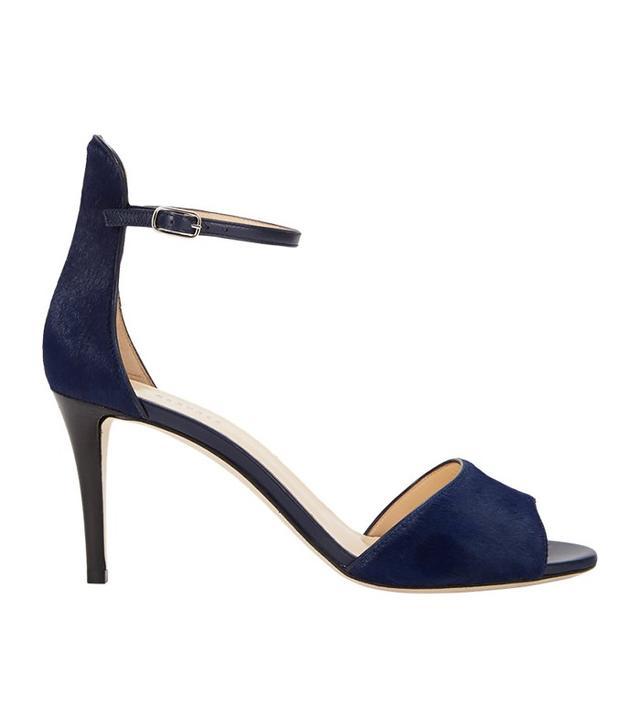 Barneys New York Haircalf Ankle-Strap Sandals