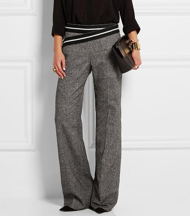 Loewe Silk and Wool-Blend Wide-Leg Pants