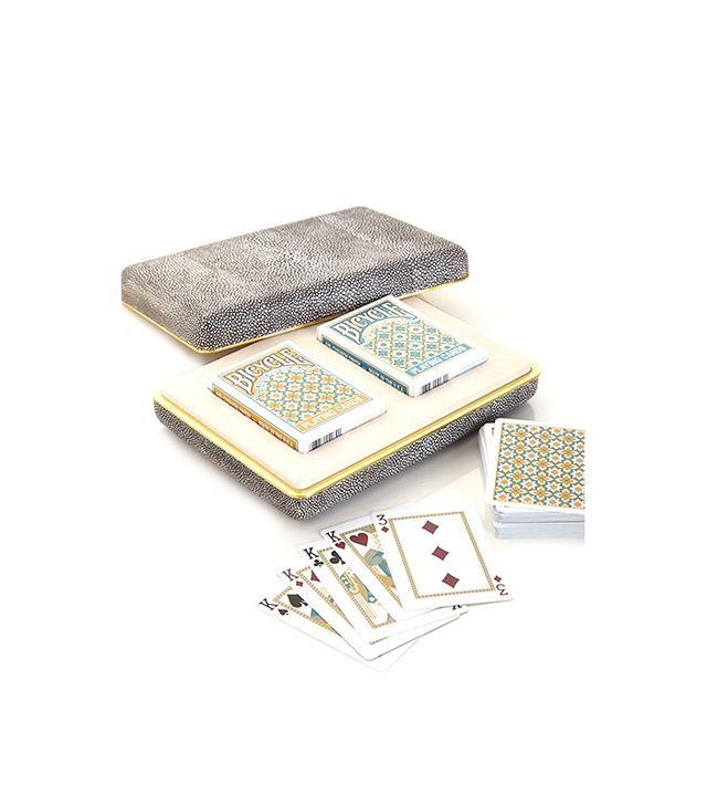 Aerin Chocolate Shagreen Card Set