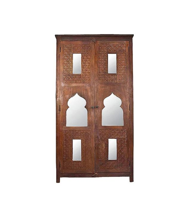 Chairish Moroccan Carved Armoire