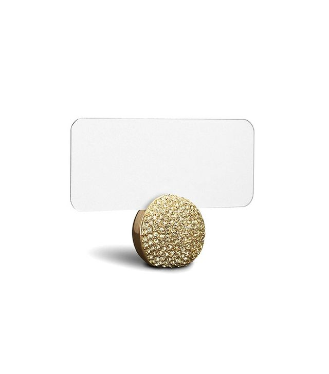 L'Objet Gold Pave Sphere Place Card Holder