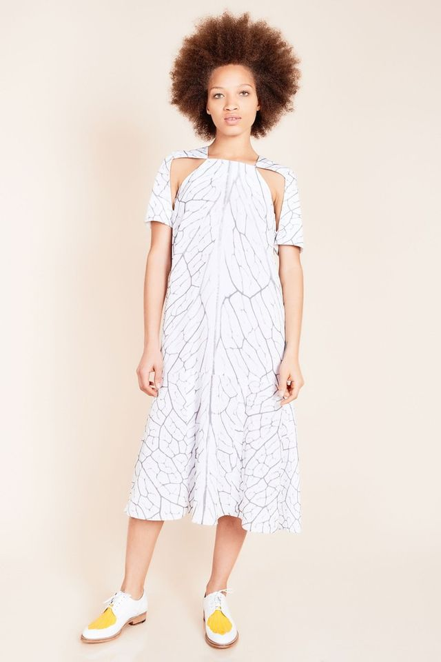 Azede Jean-Pierre Long Print A-Line Dress