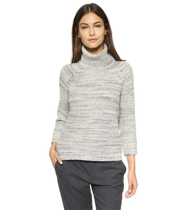 Three Dots Chunky Knit Turtleneck Sweater