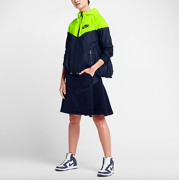 NikeLab x Sacai Windrunner Pleated Back Jacket