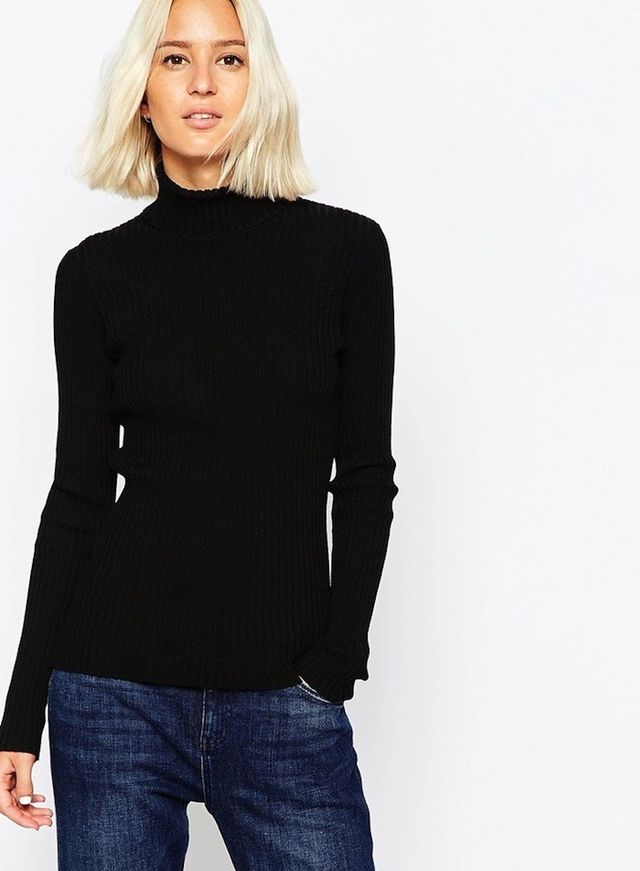 Weekday Ribbed Knit Turtleneck Sweater