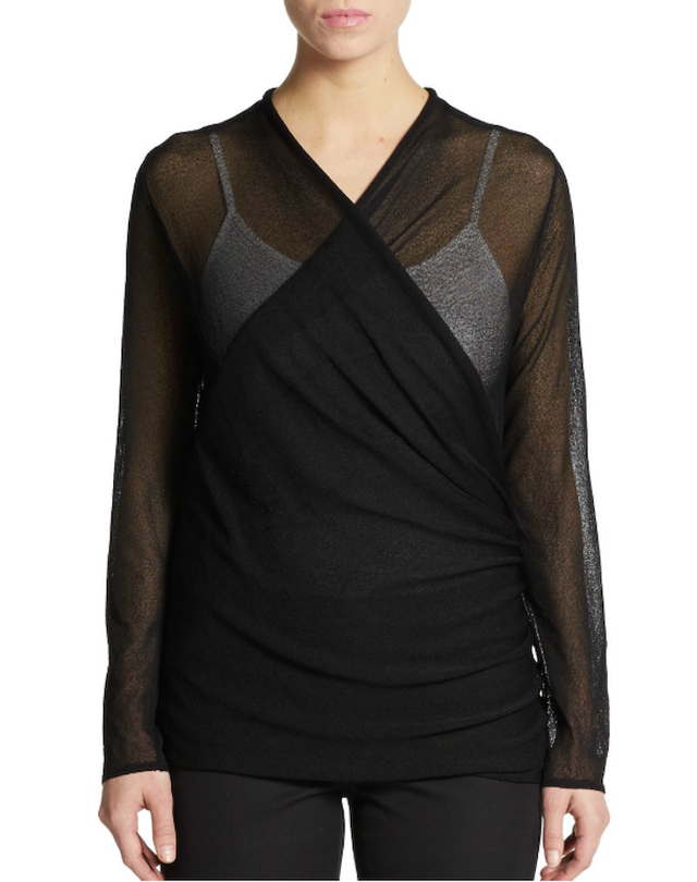 Eileen Fisher Gossamer Wrap Cardigan