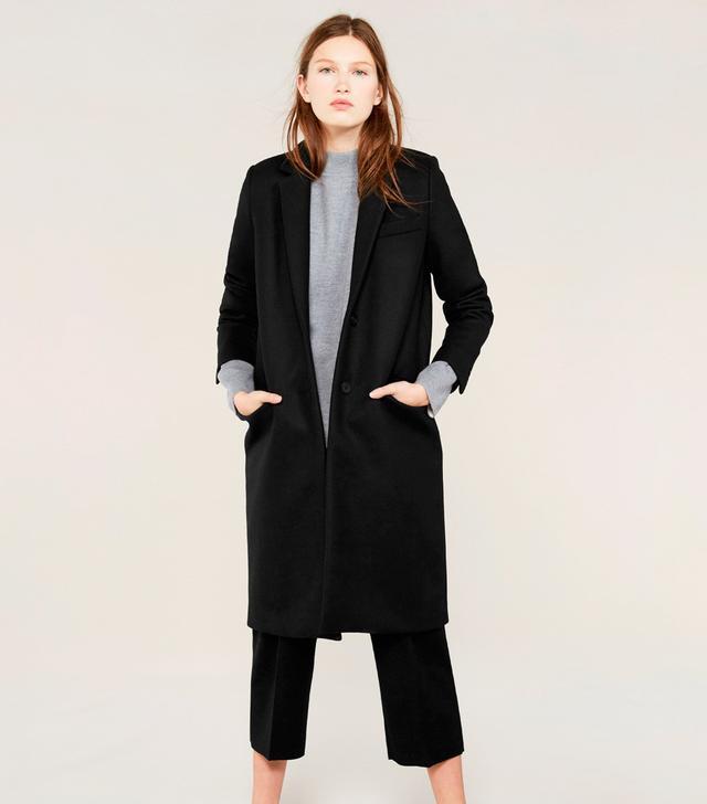 Everlane The Women's Wool Overcoat in Black