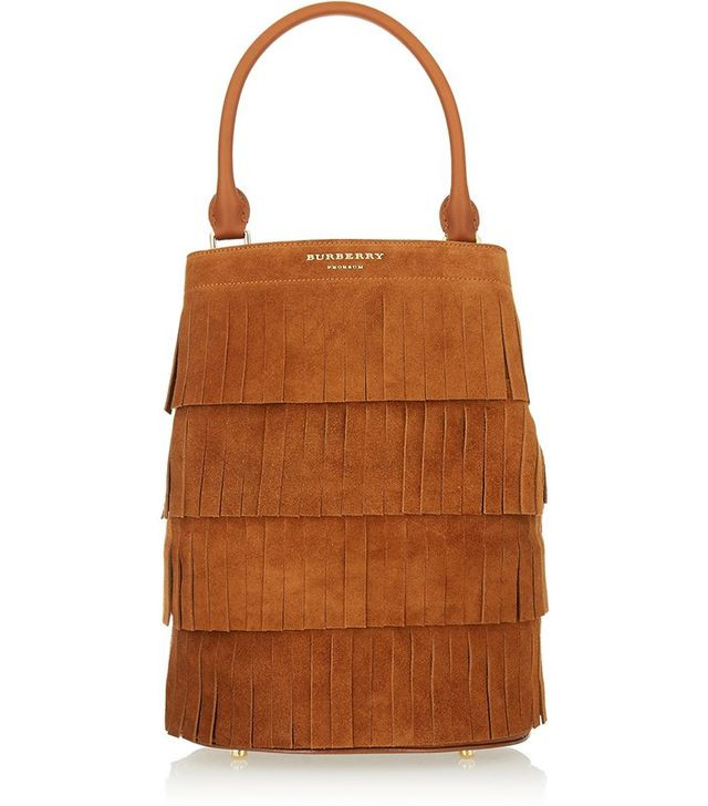 Burberry Prorsum Suede Fringed Tote Bag