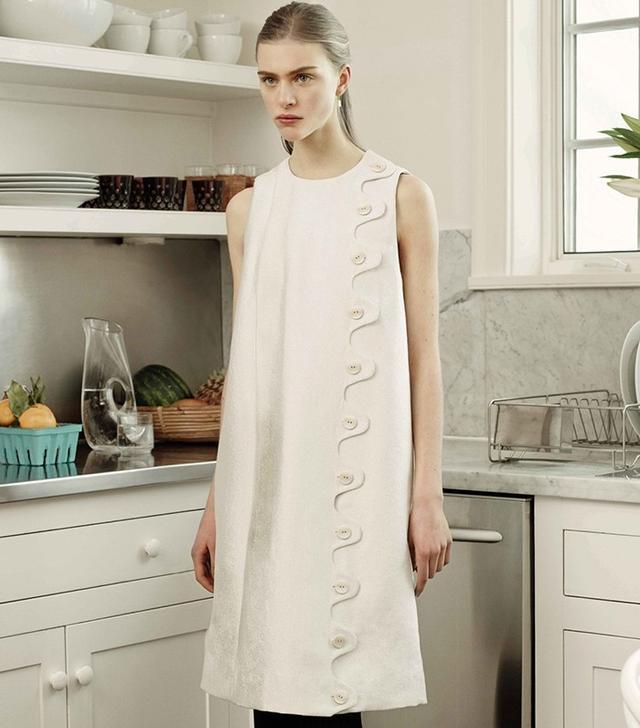 Trademark Scallop Shift Dress