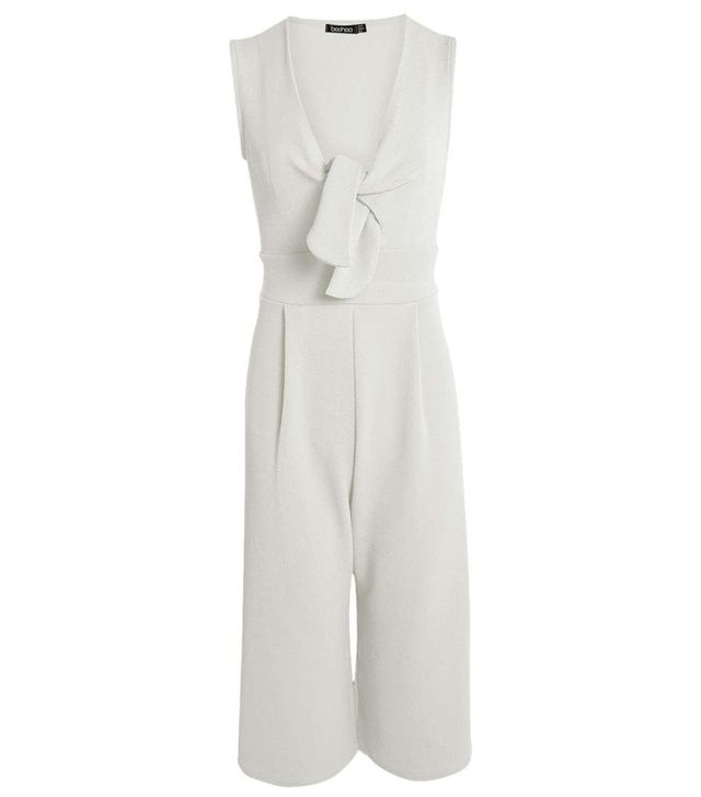 Boohoo Holly Twist Front Culotte Jumpsuit