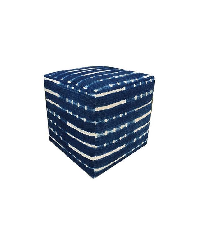 Amber Interior Design Vintage Indigo Ottoman Cubes