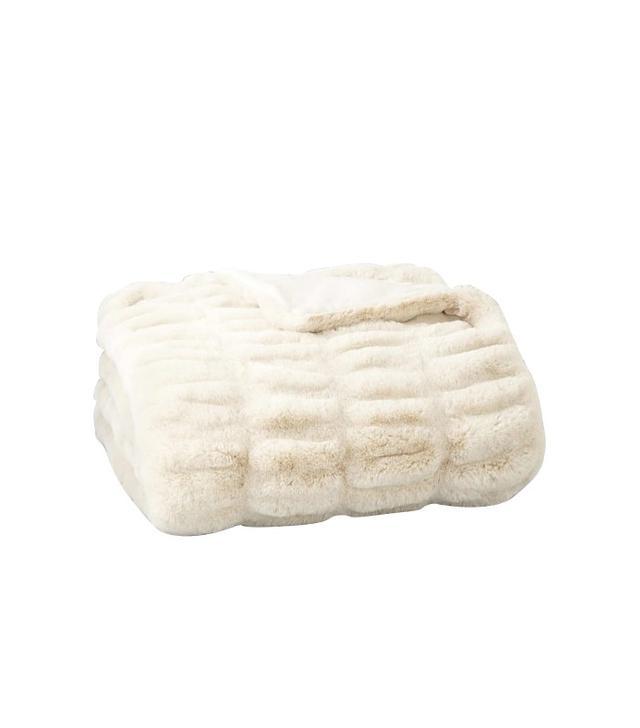 Hudson Park Faux Fur Throw