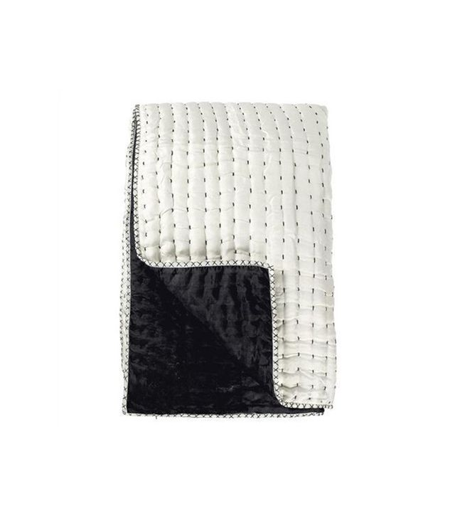 Chenevard Black & White Pure Silk Quilt