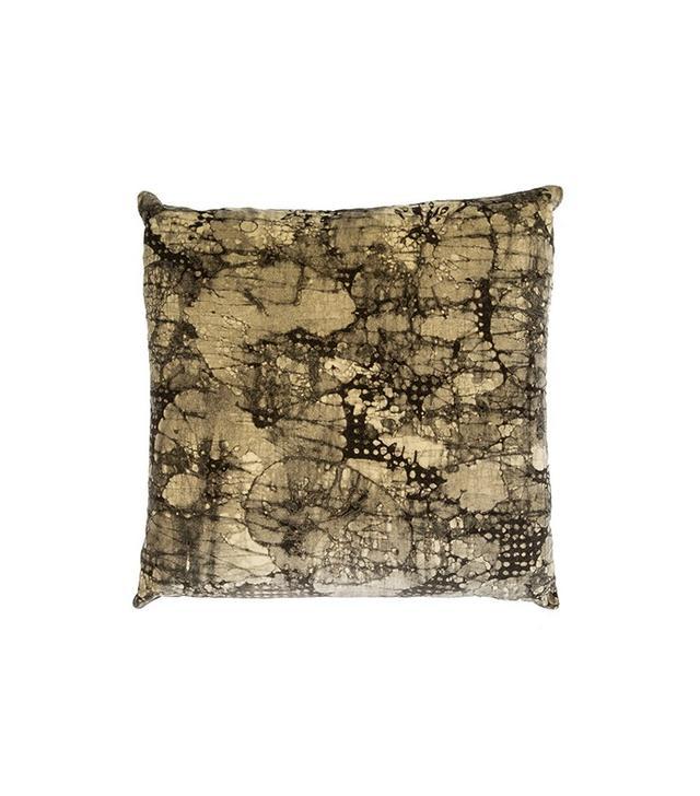 Kelly Wearstler Ebony Mineral Velvet & Goose Down Pillow
