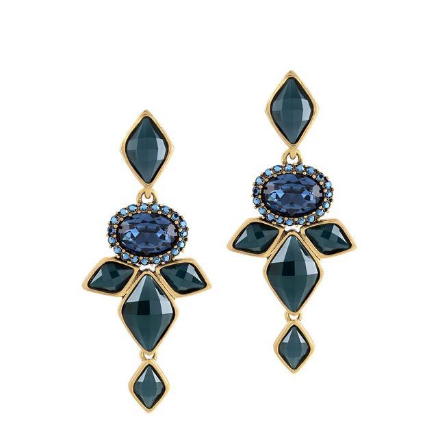 Oscar de la Renta for Cadenzza Diamond Clip-On Earrings