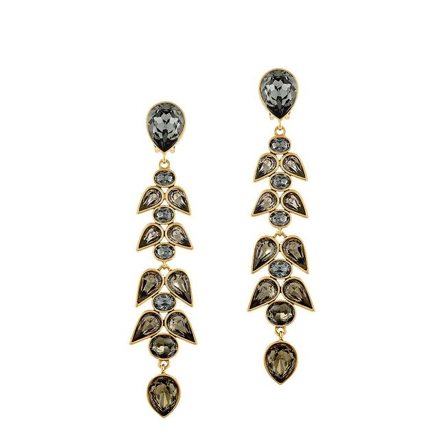 Oscar de la Renta for Cadenzza Wisteria Clip-On Earrings