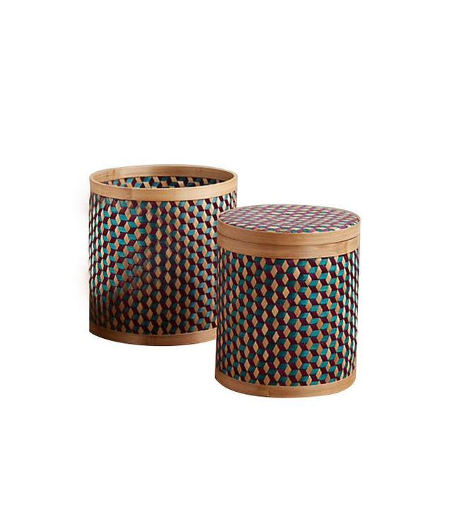 Anthropologie Bamboo Geo Baskets