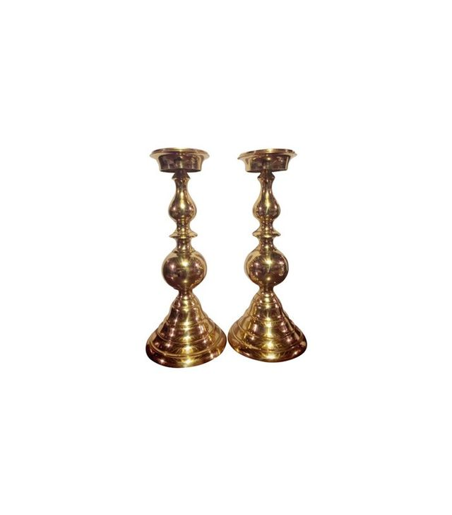 Chairish Chairish Italian Vintage Brass Candle Holders
