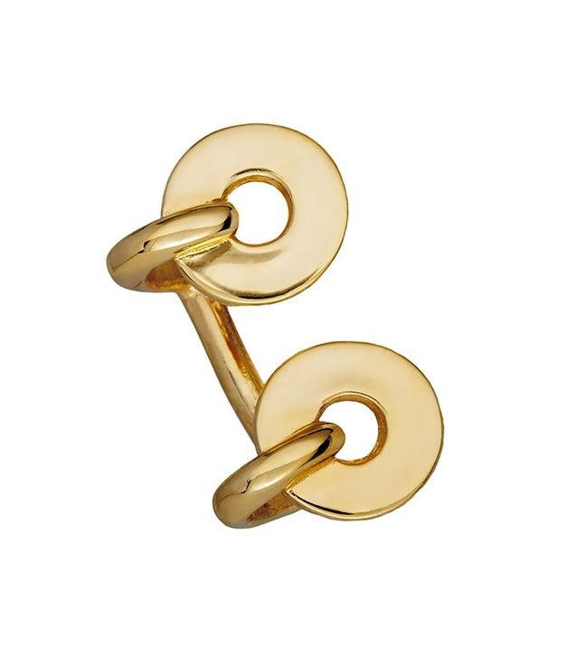 Paige Novick for Tibi Yellow Gold Double Link Ear Clip