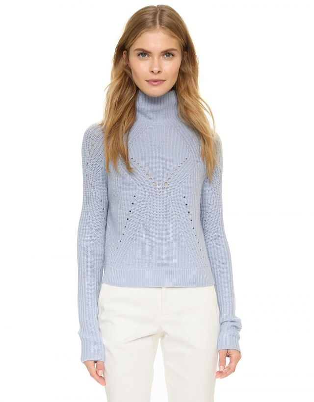 Tess Giberson Turtleneck With Moving Stitch Detail