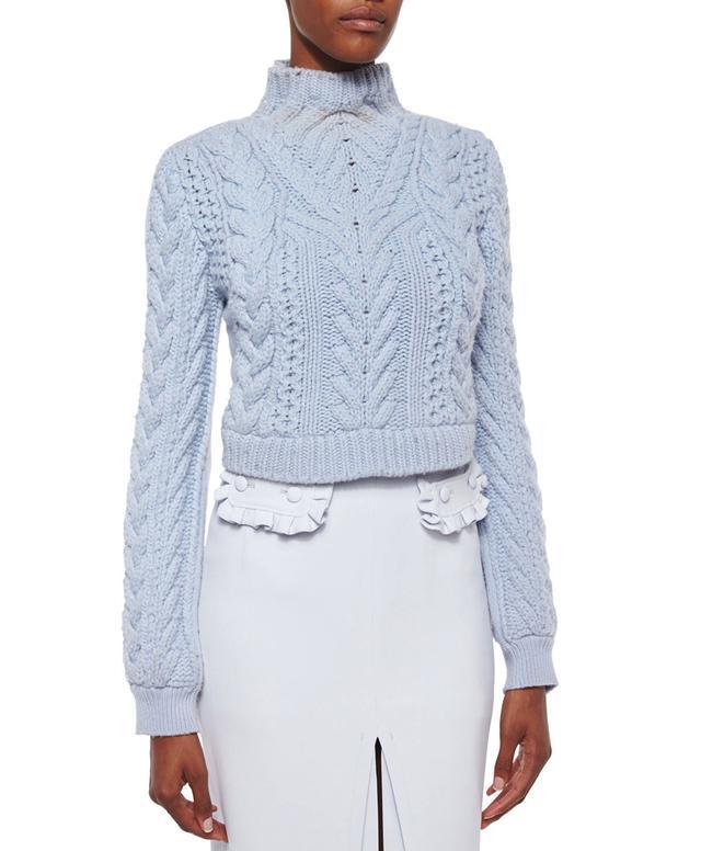 Altuzarra Cable Knit Crop Sweater