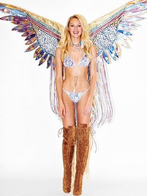 Behind the Scenes at Candice Swanepoel's Victoria's Secret Show Fitting