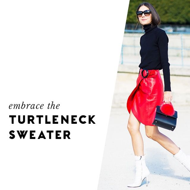 While it may seem simple, there's something incredibly chic and sophisticated about choosing a turtleneck sweater rather than a standard crewneck iteration.