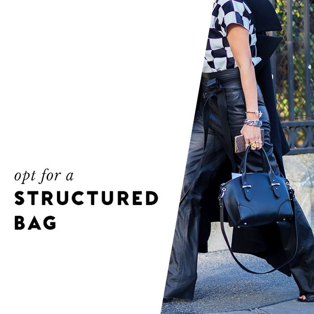 A bag with structure will inherently feel more high-end than an option that's slouchy.