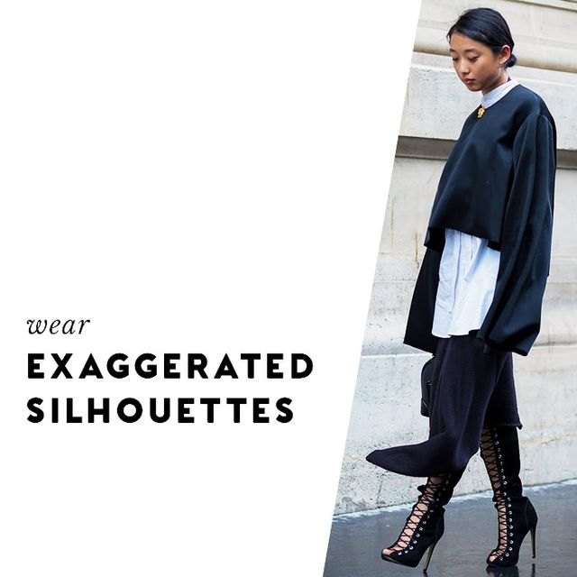 Tighter items will show ripples more easily, where exaggerated silhouettes will feel cool and high-fashion.