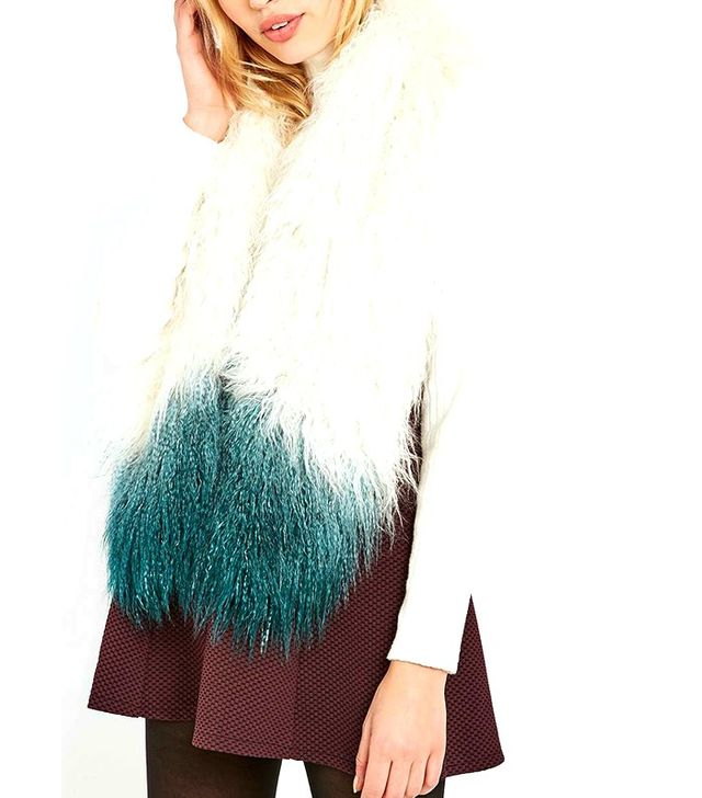 Urban Outfitters Mongolian Dip-Dye Stole