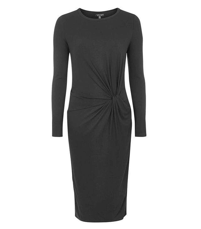 Topshop Silky Knot Front Dress