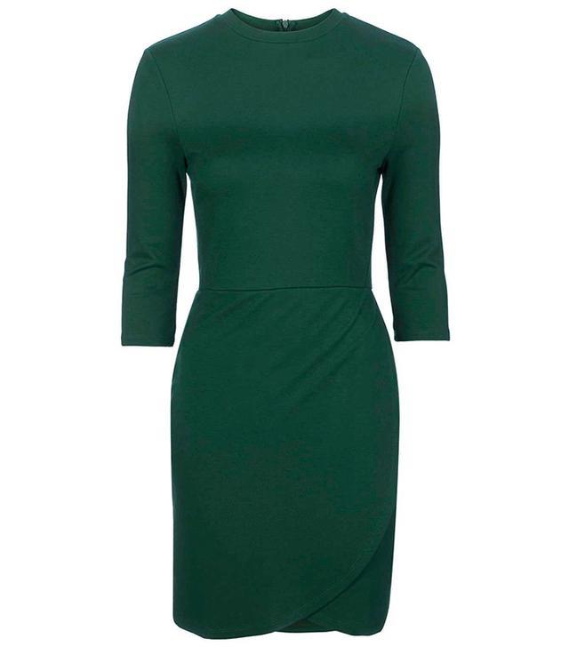 Topshop Wrap Ponte Dress