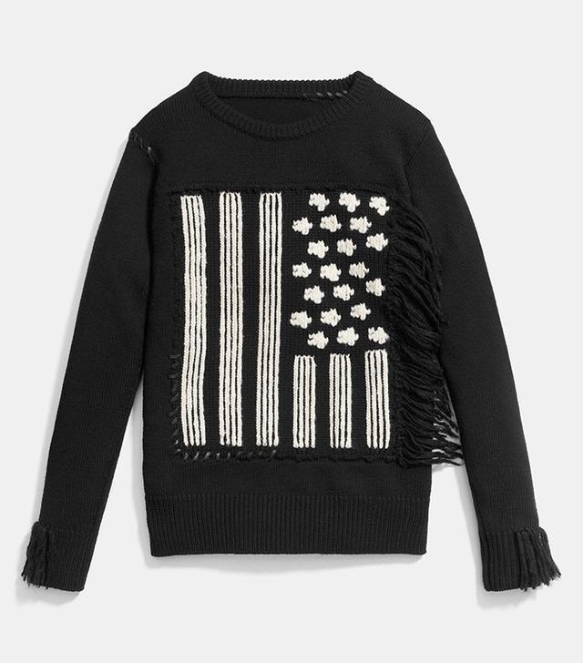 Coach Flag Intarsia Sweater
