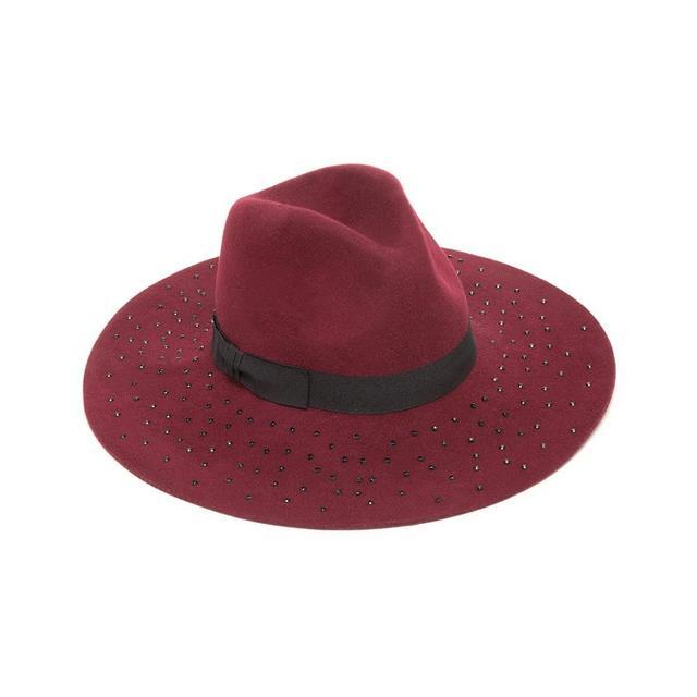 Bebe Jewel Brim Floppy Hat