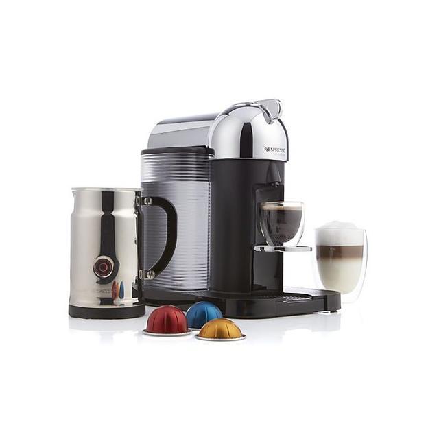 Nespresso VertuoLine Chrome Coffee-Espresso Maker Bundle
