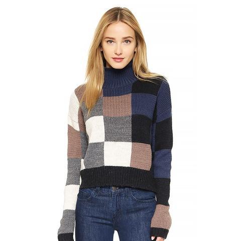 Boxy Mock Neck Sweater
