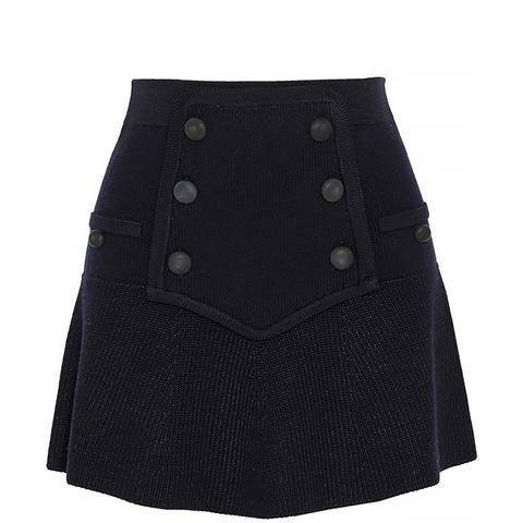 Huxley Knitted Wool-Blend Mini Skirt