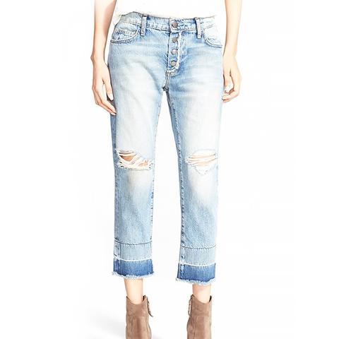 The Fling Released Hem Crop Jeans