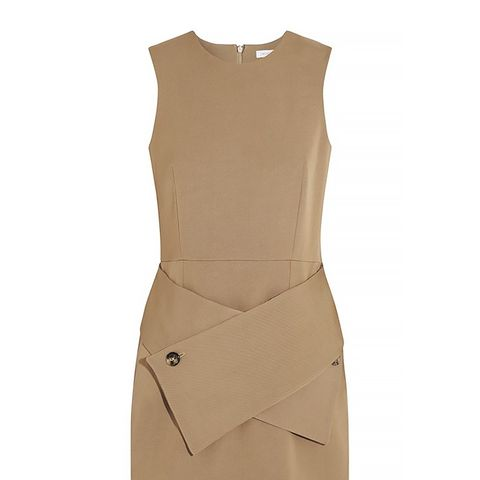 Wool-Blend Twill Mini Dress
