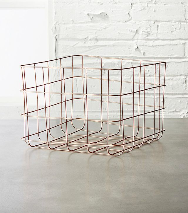 cb2 Copper Wire Storage Basket