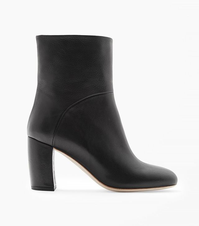 COS Leather Clad Heel Boots